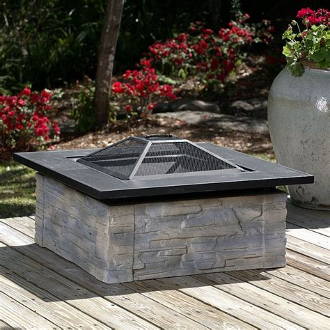square outdoor pit square fiberglass stacked pit 60275