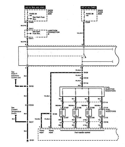 acura integra 1990 wiring diagrams fuel