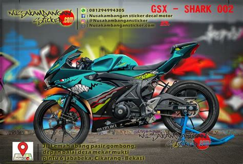 Striping Suzuki Lets Hijau decal striping gsx r150 shark hijau 002