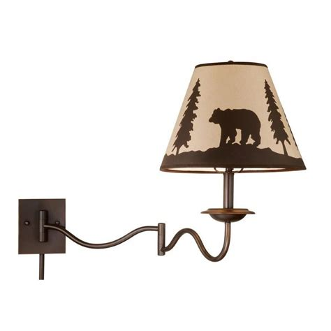 rustic swing arm wall l vaxcel rustic swing arm wall l lighting fixture bronze