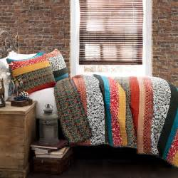 lush decor boho stripe 3 quilt set overstock