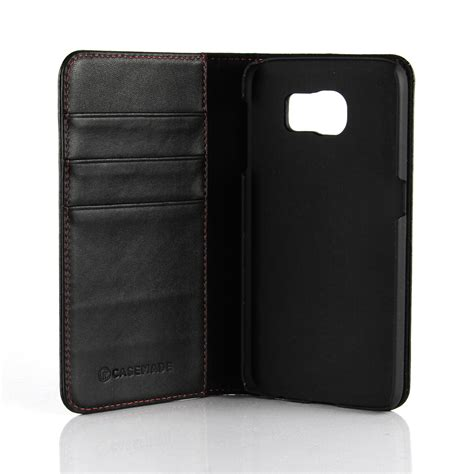 Leather Wallet Black samsung galaxy s6 leather wallet black casemade