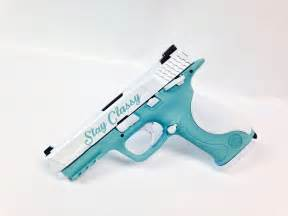 colored handguns this smith wesson m p 40 has been coated in