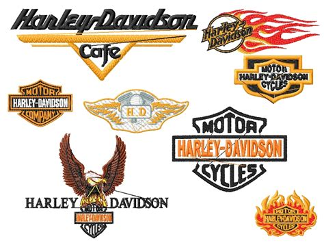 design font harley davidson 22 model harley davidson machine embroidery designs