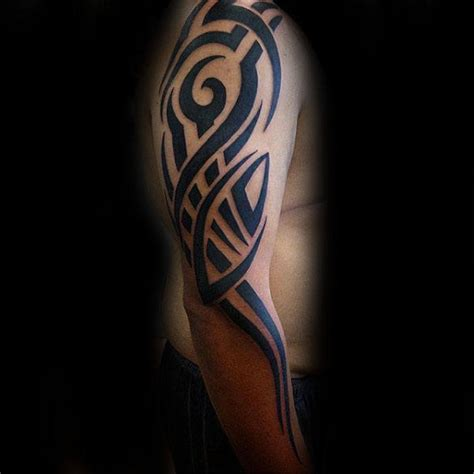 75 tribal arm tattoos for interwoven line design 75 tribal arm tattoos for interwoven line design ideas