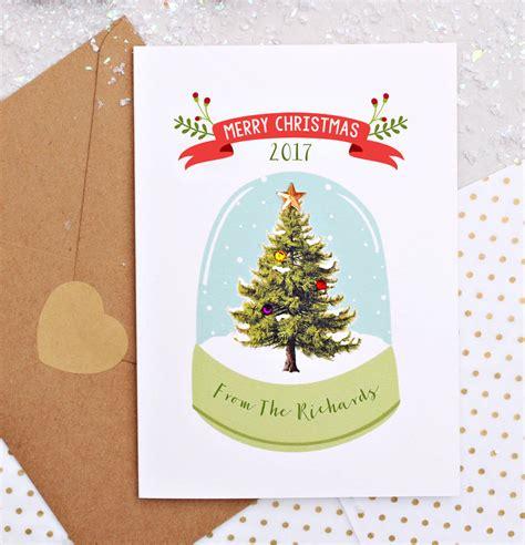 personalised snow globe christmas tree decoration