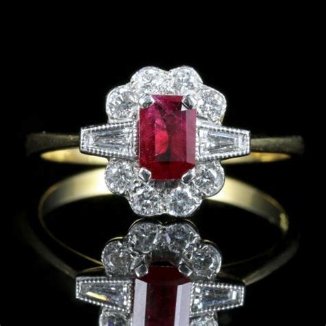 Ruby 4 1ct ruby and engagement ring 18ct gold 1ct rubies