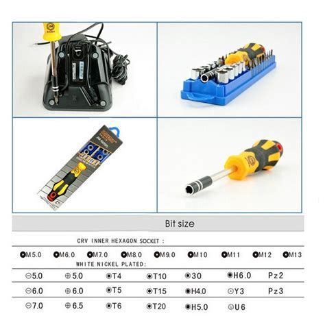 Jakemy 33 In 1 Removal Bit Screwdriver Set Jm 6093 No Color jakemy jm 6095 33 in 1 repair torx driver screwdrivers kit set precision telecom