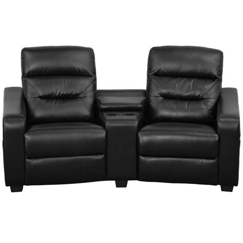 recliner chair theater san jose 2 seat leather reclining home theater seating in black