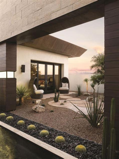 tranquil pool flows  modern desert home  hgtv