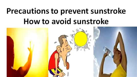 7 Ways To Avoid A Stroke by Precautions To Prevent Sunstroke How To Avoid Sunstroke