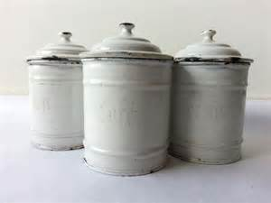 French Kitchen Canisters 1930 S French Kitchen White Canisters Set Of 3 French