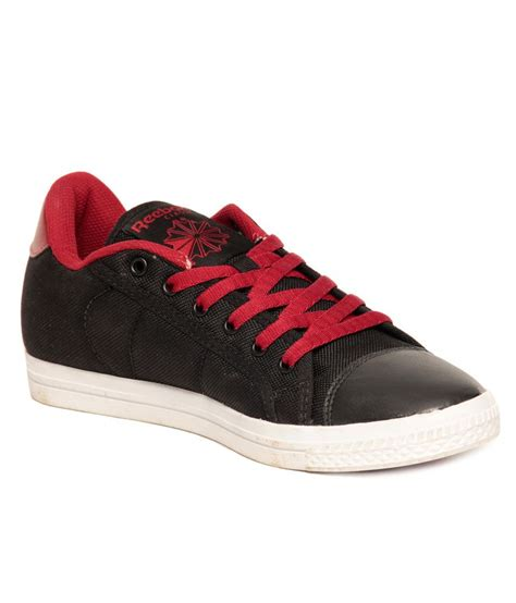buy reebok on court iii lp black canvas shoes for