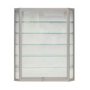 wall mounted display shelves angled wall mounted display cabinet w tempered glass