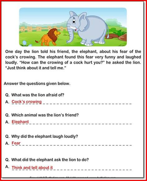 4th Grade Reading Comprehension Worksheets With Answers by 5th Grade Reading Passages And Questions 1000