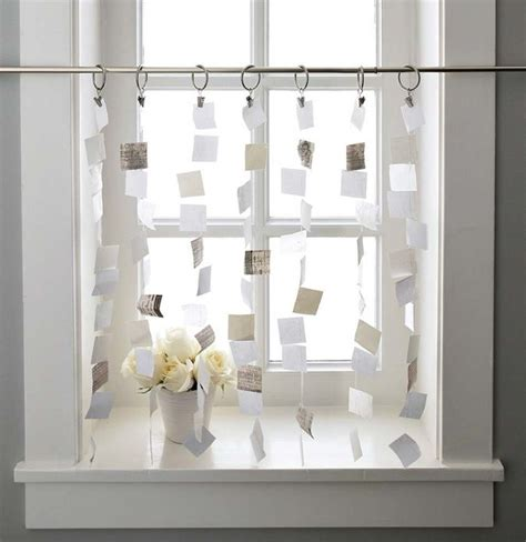 badezimmer deko fenster vorhang aus papier inspiration vorh 228 nge