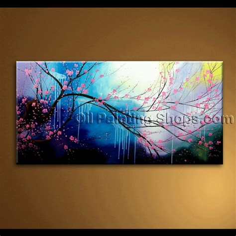 unique painting original abstract feng shui unique painting floral tree