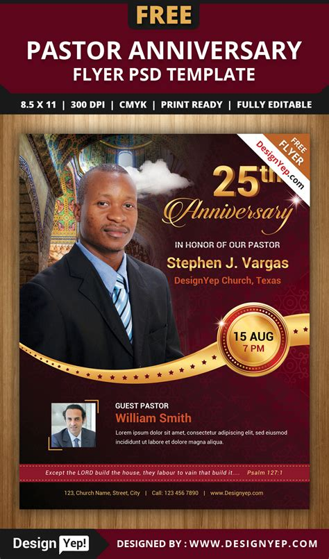pastor anniversary flyer gse bookbinder co