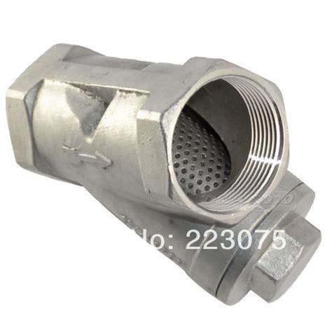 astm 316 cylinder screen strainer free shipping 3 4 quot y type 800 wog npt wye strainer ss316 cf8m stainless steel mesh filter valve