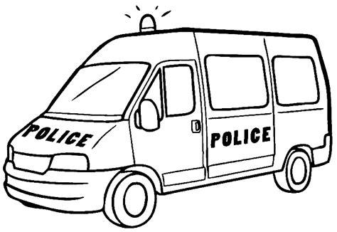 coloring page for van polizeiauto ausmalbilder f 252 r kinder