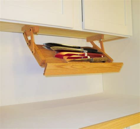 kitchen under cabinet storage under cabinet knife rack by ultimate kitchen storage handmade in america ebay