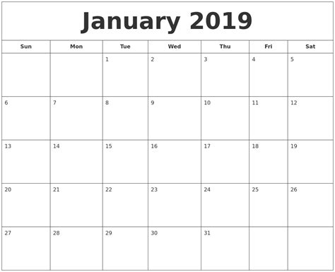 january  calendar printable templates editable calendar  printable calendar