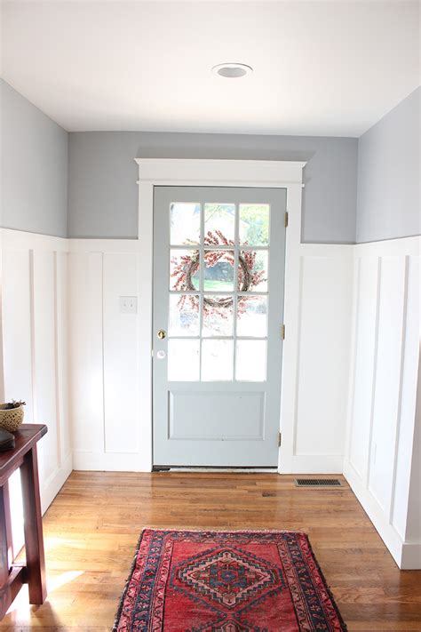 from blue to gray entryway thewhitebuffalostylingco