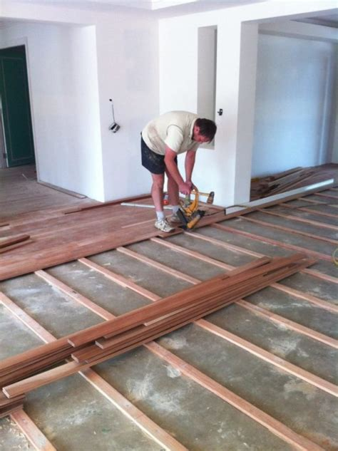 Installing Hardwood Floors Next To Existing Hardwood How To Lay A Plywood Subfloor Howtos Diy Plywood Subfloor Concrete In Uncategorized Style