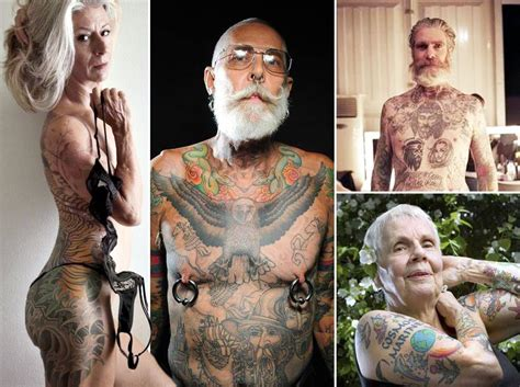 tattooed old people these bad seniors prove that tattoos can look