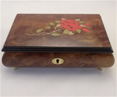 on flower burl box sorrento inlaid burl musical jewelry box sorrento