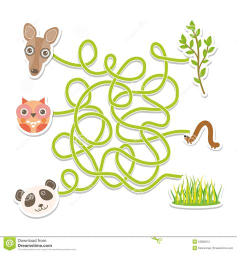 Preschool Seamless Background Stock Photo 169 Lenm 1140638 by Owl Panda Kangaroo Labyrinth For Preschool Children