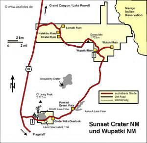 wupatki sunset crater national monument karte wupatki