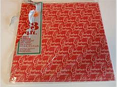 Vintage Tuttle Press Christmas Greetings Red White Gift ... Vintage Christmas Wrapping Paper
