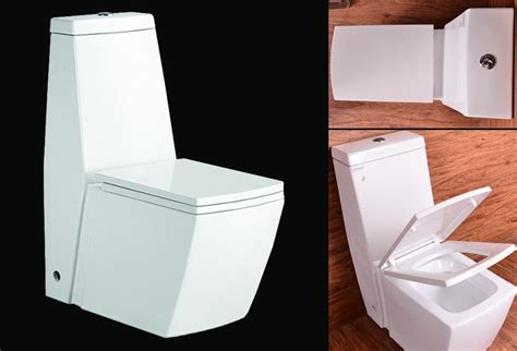 stand wc toilette mit integriertem spuelkasten mit deckel nano