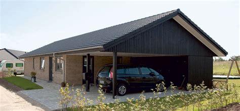 Carport Billig by Praktiske Carporte Og Garager Til Dit Nye Hus Danhaus