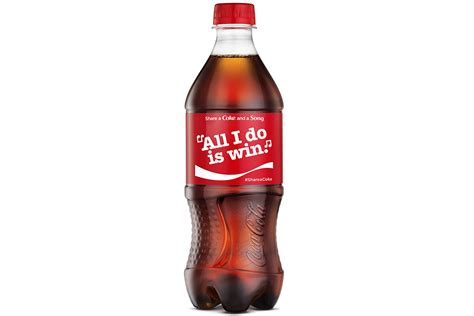 images of coke coke slaps more than 70 song lyrics on cans and bottles