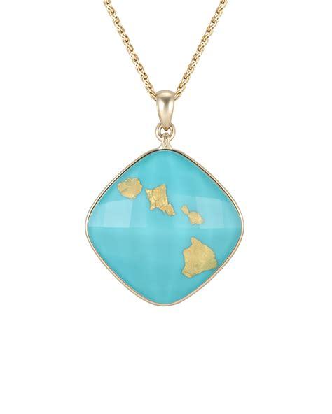 treasure island pendant with four hawaiian islands ti p01
