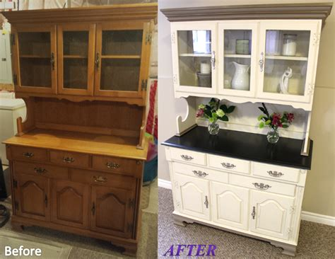 painted china cabinet before and after jill janine s hutch before and after white color is a