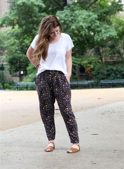 heart pattern joggers hudson pants pattern made in a woven fabric love this