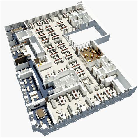 office plan 3d model