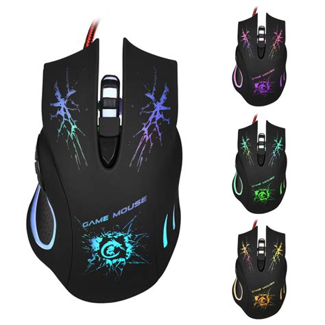 Mouse Gaming Rexus X2 6d 7 Led Black 5500dpi cpi 6d button optical gaming mouse mice 7 color led light usb wired adjustable for