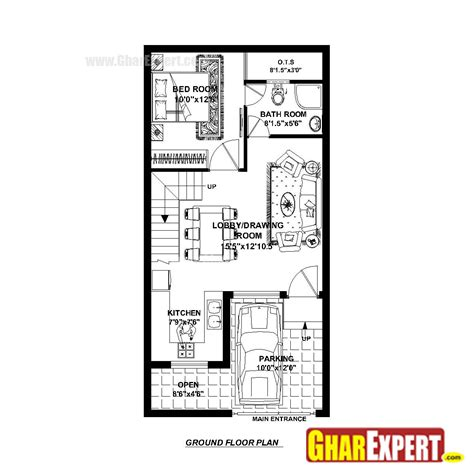 house map design 20 x 40 house plan for 20 feet by 40 feet plot plot size 89