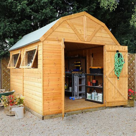 10 X 8 Wood Floor Shed - 10 x 8 waltons barn tongue and groove apex garden