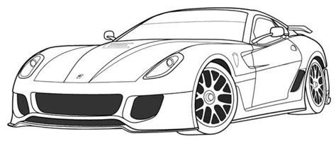 coloring pages ferrari cars ferrari 599xx coloring page ferrari pinterest