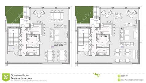 furniture symbols for floor plans standard cafe furniture symbols on floor plans stock