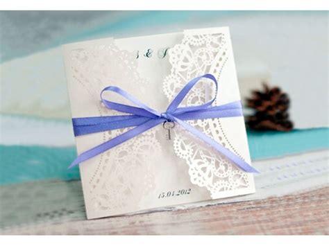 Einladung Hochzeit Flieder by Einladungskarte Hochzeit Mit Spitze Und Schleife