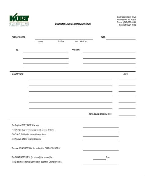Change Order Request Form Gallery Of Free Purchase Templates Request Templatez Purchase Free Subcontractor Change Order Template
