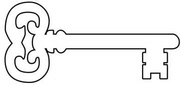 Key Outline Clip Free by Skeleton Key Clip Clipart Best