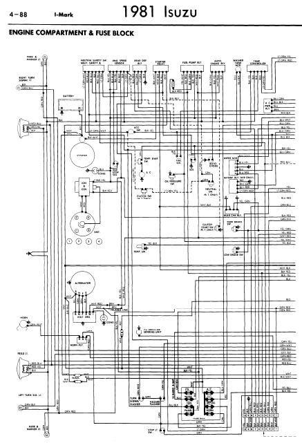 repair-manuals: Isuzu I-Mark 1981 Wiring Diagrams