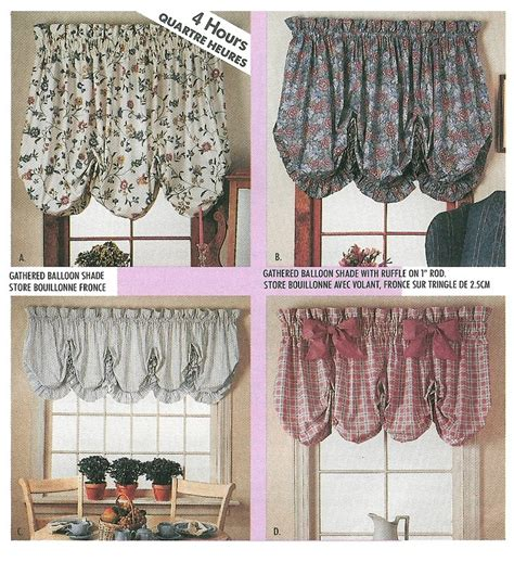 easy sew curtain patterns balloon valance shade sewing pattern curtain window